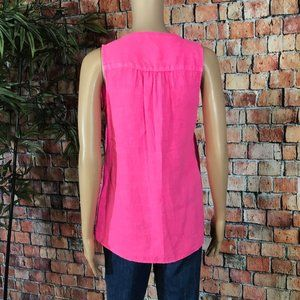Lilly Pulitzer Tops - Lilly Pulitzer Bright pink Linen Tank top XS